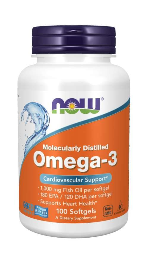 NOW Omega-3 Омега-3 1000 мг, 1000 мг, капсулы, 100 шт.